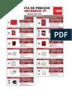 Lista de Precios Incendio Agosto 2019 1