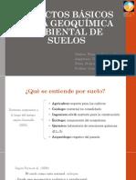 Geoquímica de Los Suelos. Primer Informe