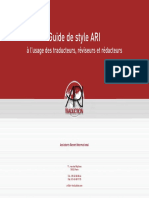 Guide de Style Pour Les Traducteurs