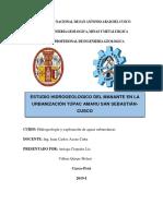 Estudio Hidrogeologico de Agua Filtrante en La Urbanización Túpac Amaru San Sebastián-cusco(1)