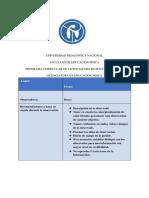 Ficha de observación de la plaza de bolivar RP