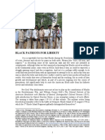 BLACK PATRIOTS FOR LIBERTY [Continental Army series]