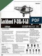 Trumpeter 1/32 P-38L Instructions