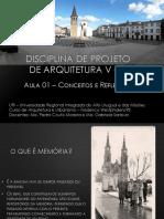 Aula 01 - Projeto de Arquitetura V