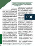 Estudio prospectivo de las principales propiedades químicas de suelos agrícolas cultivados con trigo candeal y maíz en diferentes zonas de Chile
