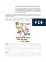 Why Should You Become Microsoft MCSA or MCSE Certified?