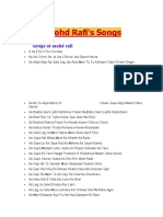 List of Mohd Rafi SONGS