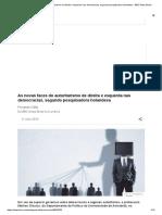 As Novas Faces Do Autoritarismo de Direita e Esquerda Nas Democracias, Segundo Pesquisadora Holandesa - BBC News Brasil