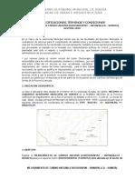 Especificaciones Tecnicas, Mejoramiento de Camino Ancoma