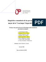 """Diagnóstico Comunitario de Las Personas Adulto Mayor de La """"Casa Hogar Virgen Del Carmen"""""""