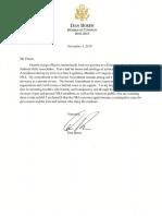 Dan Boren NRA Resignation