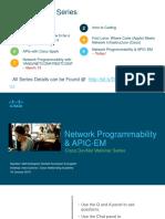 Devnet Session 6 Networkprogrammability Apic-em