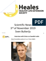 Scientific News 3rd of November 2019