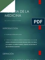 Historia y Teoría de La Medicina