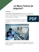 investigación marco teórico