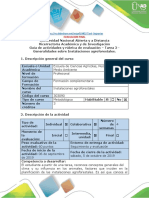 Guía - Tarea 2 - Condiciones Iniciales de Diseño de Instalación Agroforestal