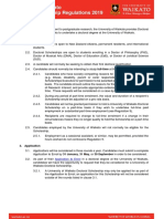 UoW Doctoral Scholarship Regulations 2019
