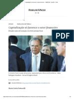 Capitalização Só Favorece o Setor Financeiro - 14-05-2019 - Opinião - Folha
