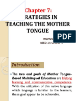 Strategies in Teaching the Mother Tongue,