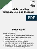 Material handling slides