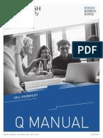 Q Manual, Monash University, 6th Ed (2016)