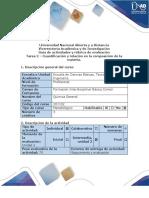 Guía de actividades y rúbrica de evaluación - Tarea 2 - Cuantificación y relación en la composición de la materia