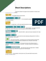 Block Descriptions