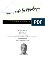 Linea de Tiempo de la Historia de la Psicología