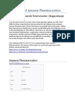 Case Against Janssen Pharmaceutica - HUB Legal Department