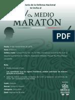 Convocatoria Medio Maratón Sedena 2019