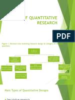 Kinds of Quantitative Research