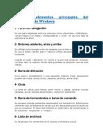 Los 10 elementos principales del explorador de Windows.docx