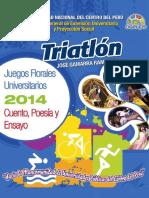 Juegos Florales Uncp 2014