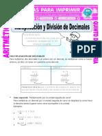multiplicacion y division de decimales