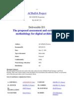 ACRuDA Deliverable D3