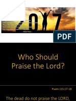Who Should Praise the Lord