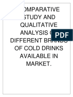 Cold Drink Analysis