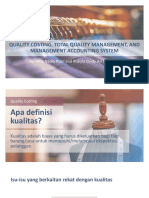 Quality Costing, Total Quality Management, And