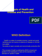 Concept of Health and Disease prevention
