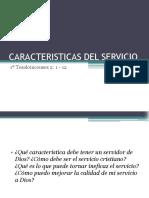 Caracteristicas Del Servicio
