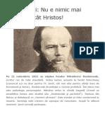 Dostoievski_ Nu e Nimic Mai Frumos Decât Hristos! – Gânduri Din Ierusalim