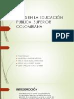 Crisis en La Educación Pública Superior Colombiana