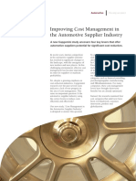 Improving Cost Management in the Automotive Supplier Industry