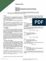 ASTM G-57 Field Measurement of Soil Resistivity
