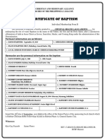 Baptismal Form-Certificate Crystal Amoto