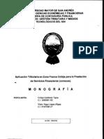 Dip-tri-005 Aplicacion Tributaria en Zona Franca Cobija Para La Prestacion de Servicios Financieros (Conexos)