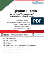 Rangkaian Listrik Arus Dan Tegangan AC Sinusoidal Dan Phasor