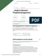 Aktuelle & Konkrete Zahlen Zum Projektmanager Gehalt.