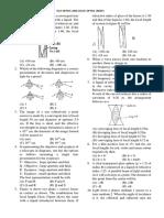 NSEP Sample Paper (Ray Optics & Wave Optics)