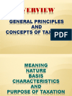 General Principles on Taxation
